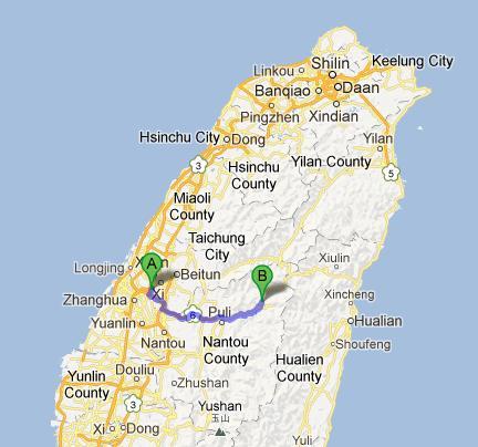 Taichung to Qingjing